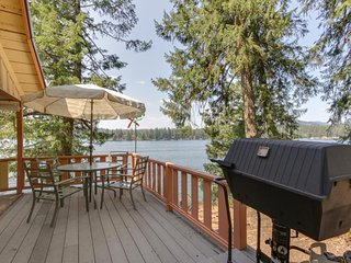 NEW LISTING! Dog-friendly, lakefront cabin w/private dock, beach access & views