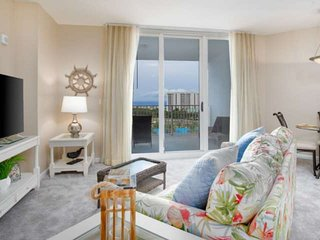 Pool/Gulf Views! 2 King BRs w/ Balcony Access! Palms of Destin Lagoon Pool, 9th