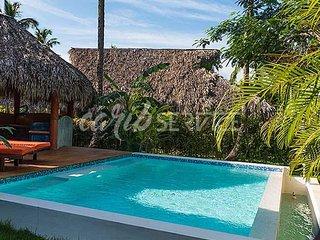 ANACAONA,  150 m de la mer, 3 chambres + mezzanine, piscine privée, 8 personnes