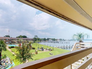NEW LISTING! Cozy waterfront condo with panoramic sound views and shared pool