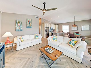 Brand-New 3BR Bungalow on Madeira Beach, Steps from the Gulf!