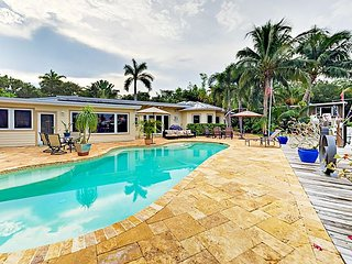 Private Pool & 90' Dock w/ Ocean Access! Luxe 4BR Tropical Hideaway