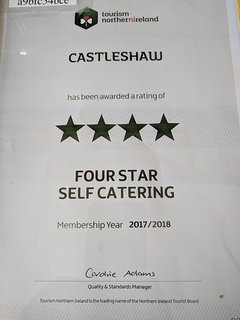 Guests can have the added reassurance that Castleshaw is certified 4 star by Tourism NI.