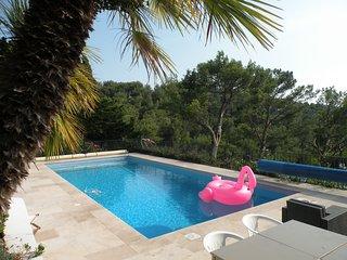 Maison De Vacances a La Calfornie, vue mer, piscine - CARQUEIRANNE