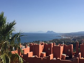 Family Home- sea view over Gibraltar & Moroccan coast, Andalusian village style