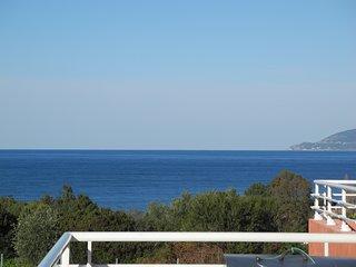 villa 160m² 2 appart 4ch piscine jardin 900 m² pleine nature calme vue mer 600 m