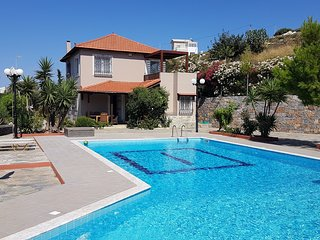 Villa Apollonia located on a hill with spectacular views compines a tranquil