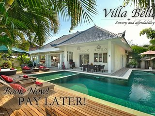 BOOK NOW PAY LATER!! UNLIMITED BEER FREE MASSAGE*4BR/4BTH*SEMINYAK