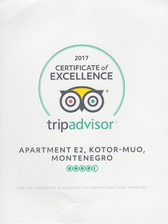 Trip Adviser Certificate of Excellence for 2017.