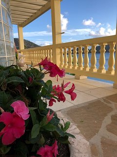 This is the entrance to Caribe #3 Suite, a king bedroom with a large outdoor deck.