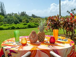 Alii Kai 11B: Stunning ocean and mountain views from your own private patio.