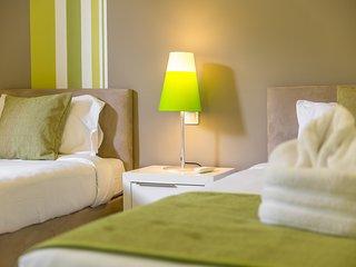 chambre avec 2 lits simples modulable en 1 lit double