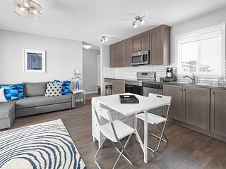 Private Suite Near West Edmonton Mall with garage and AC