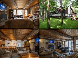 RUSTIC 6 BED BLUE MOUNTAIN CHALET WITH HOT TUB, PARK LIKE SETTING