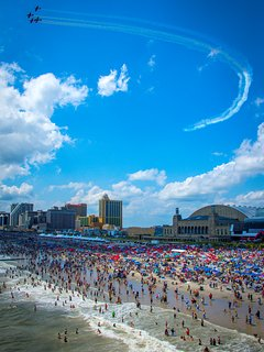 Incredible Air Show Viewed From The Atlantic City Beach In August!