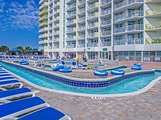Pools. Lazy Rivers. Balcony w/ Ocean Views. Beachfront Location!