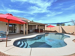 NEW!Stress-Free Casa Grande Home w/Pool & Hot Tub!