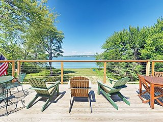 Waterfront Gem! Renovated Cottage w/ Expansive Deck & Multiple Fireplaces