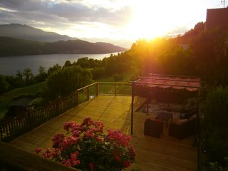 Family Appt with 2 bedrooms, peaceful, stunning views, close to Millstätter See