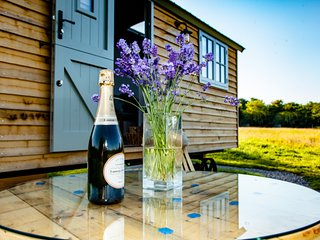 Bentleys luxury glamping in a field of your own with hot tub and alfresco dining