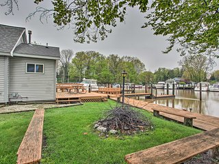 NEW! South Haven Riverfront House w/ Boat Dock!