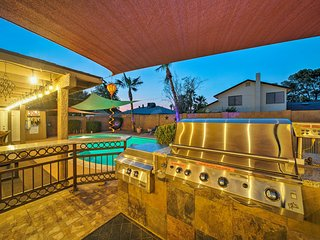 NEW! Chic Phoenix Home w/ Hot Tub, Pool & Fire Pit