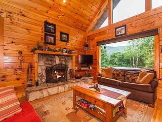 Copper Top Cabin on 4 Acres w/ Game Room & Hot Tub - Near Cataloochee