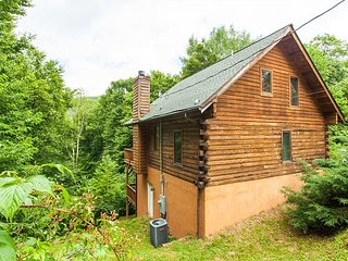 3BR Copper Top Cabin on 4 Acres w/ Game Room & Hot Tub—Near Cataloochee
