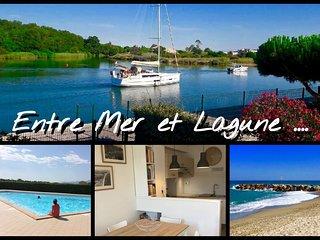 Entre Mer et Lagune - Charmante maison mitoyenne T3 - 4/6 pers. Plage150M - WIFI
