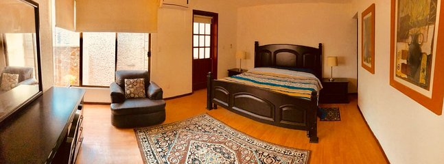 Private room with air conditioning, bathroom and terrace
