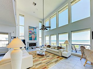 Beachfront 4BR w/ Stunning Views, Private Boardwalk to Beach & Huge Deck