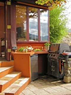 BBQ outside on your patio