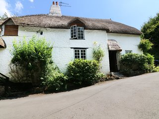 1 SOUTHBROOK COTTAGES, thatched roof, woodburner, Bovey Tracey