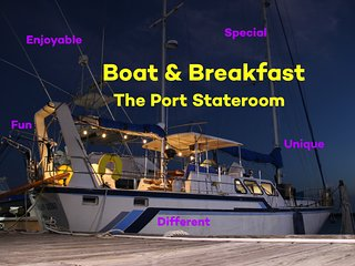 Vacation on the Water - Boat & Breakfast - The Port Stateroom