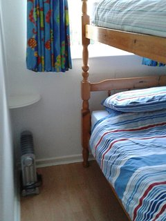 Full size bunk beds in second bedroom.