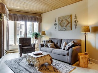 Ski-in/ski-out condo with shared pool & hot tub, mountain & resort views!