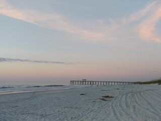 Early morning solitude facing south from beach front of Sand Dollar Villas