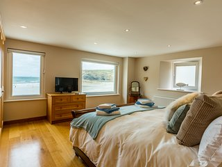 Bedroom 1 with sea views