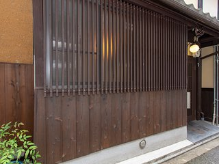 Entrance with traditional wooden panelling