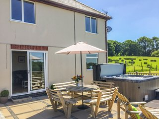 PHEASANT WOOD, countryside views, patio with hot tub, Llandrindod Wells, Ref 939