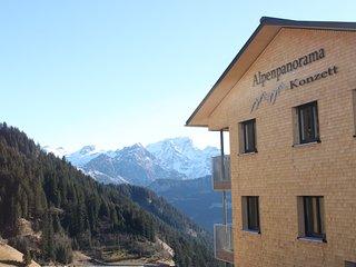 Alpenpanorama Konzett in Faschina, Fontanella bei Damüls