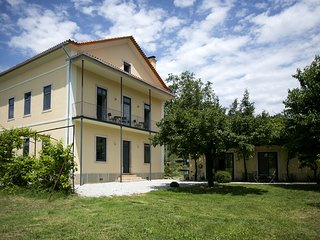 LARGE MANOR HOUSE WITH GARDEN; CLOSE TO RIVER BEACHES, FORESTS AND STONE VILLAGE