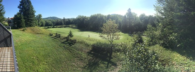 View of the 7th hole from main balcony