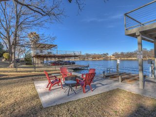 NEW LISTING! Dog-friendly lakefront home with private sun deck and boat lift!