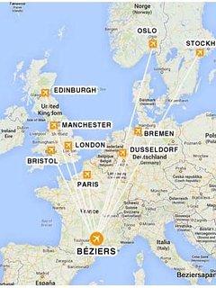 Vols directs Ryanair navette depuis l'aéroport toutes les 30 minutes