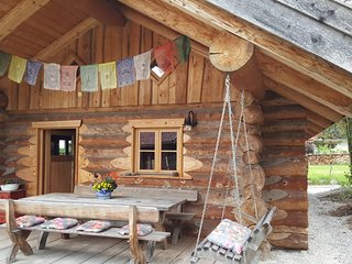 Cozy log cabin in the Bavarian alps