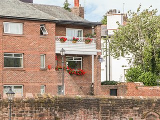 23 CITY WALLS, views over the River Dee, in Chester