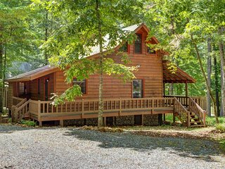 NEW LISTING! Dog-friendly cabin w/fireplace, wrap-around porch -near trails