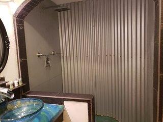 Grecian room shower