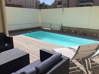 Somptueux appartement Amdar avec Piscine privée, proche de la plage et du centre